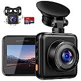 APEMAN Dashcam Vorne und Hinten Autokamera mit MicroSD-Karte, 1080P FHD Mini...