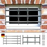 Fenstergitter Sicherheitsgitter Amsterdam ausziehbar in 9 Größen 300x700-1000...