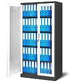 Aktenschrank C012 Flügeltür aus Glas Medizinschrank Metallschrank Büroschrank...