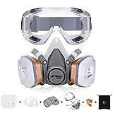 AirGearPro G-500 Atemschutzmaske mit Filter, Gasmaske Staubfilter und...
