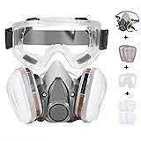 Faburo Atemschutzmaske Halbmaske Staubschutz Atemmaske mit Schutzbrille für...
