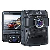 Dashcam Auto Vorne Hinten, Integrierte GPS, Full HD 1080P Dual Crosstour...