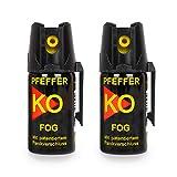Pfefferspray KO Fog Hundeabwehr Verteidigungsspray 40ml Abwehrspray Pepper...
