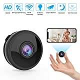 Mini WLAN Kamera Überwachungskamera Wireless Full HD 1080P mit 6 Infrarot-Licht...