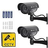 'N/A' 2 Stück Schwarz Attrappe Kamera CCTV Dummy Überwachungskamera,Profi...