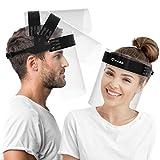 HARD Visier Gesichtsschutz 1 x Halter mit 2 x Wechselvisier, Aufklappbares Face...