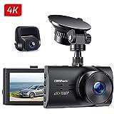 Campark Dual Echte 4K Dashcam vorne und Hinten, 3' Autokamera mit...