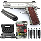 Colt-Pack 1911 Rail Gun Stainless Co2 Full Metal-cybergun 180530- Semi Automatik...