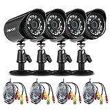 Extaum 4 * 720P 1500TVL AHD wasserdichte CCTV-Kamera + 4 * 60ft...