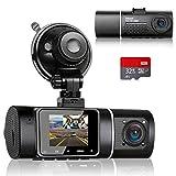 Abask Dashcam Dual 1080P Full HD Infrarot Nachtsicht Autokamera Vorne und Hinten...