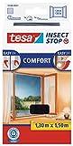 tesa Insect Stop COMFORT Fliegengitter für Fenster - Insektenschutz mit...