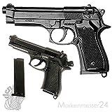 Denix Erwachsene Gefälschte Nachbildung der Beretta M92 Waffenreplik, schwarz,...