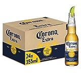 Corona Extra Premium Lager Flaschenbier, MEHRWEG (24 x 0.355 l) im Karton,...