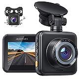 APEMAN Dashcam Vorne und Hinten Autokamer, 1080P FHD Mini Dual Lens Kamera with...