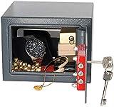 Xcase Tresor: Kompakter Stahlsafe mit 2 Doppelbart-Schlüsseln, 5 Liter (Mini...