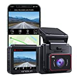 Kingslim 4K Dashcam mit WiFi GPS,2 Zoll IPS Touchscreen,G-Sensor...