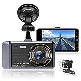 Abask Dashcam Auto Vorne und Hinten Autokamera 4 Zoll Full HD 1080P Dual Dash...