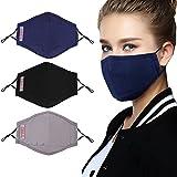 Bageek 3PCS Mundbedeckung Atmungsaktive Staubschutz Gesichtsmundabdeckung mit...