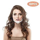 10 Stück Schutzschild Transparentes Schutzvisier Anti-Oil Splash Gesichtsschild...